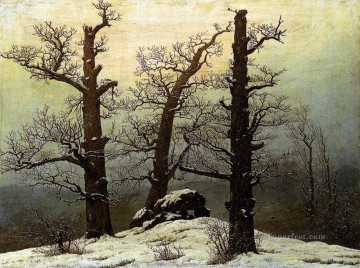 Dolmen In The Snow Romantic Caspar David Friedrich Oil Paintings